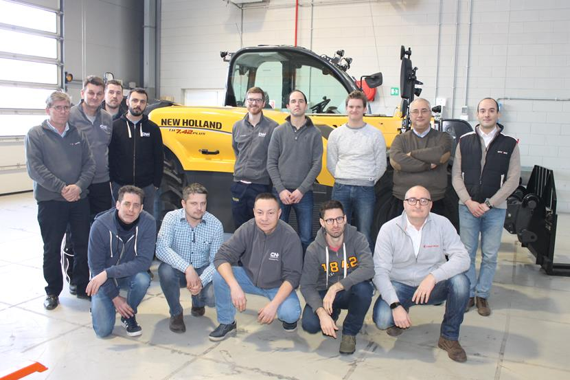 Carraro Academy technicians at the CNH Industrial Training Center in Turin, February 2019