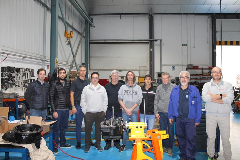 Carraro Academy technical training on transmission systems installed in backhoe loaders (October 2019, 22-24)