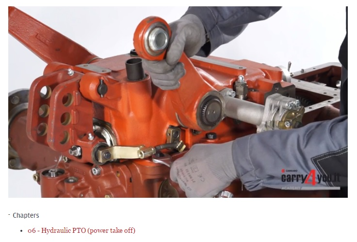 Academy e-learning platform: Carraro agricultural transmission new video manuals