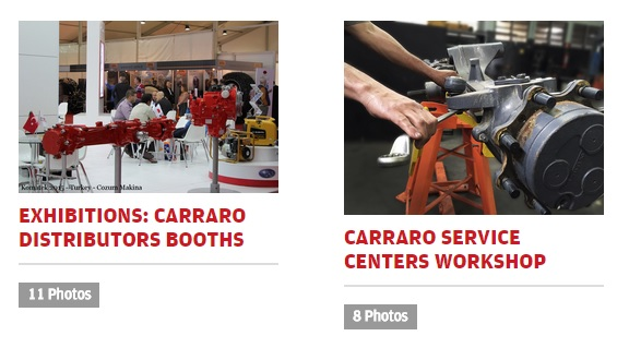 New section dedicated to Carraro photos and images in carry4you.it website