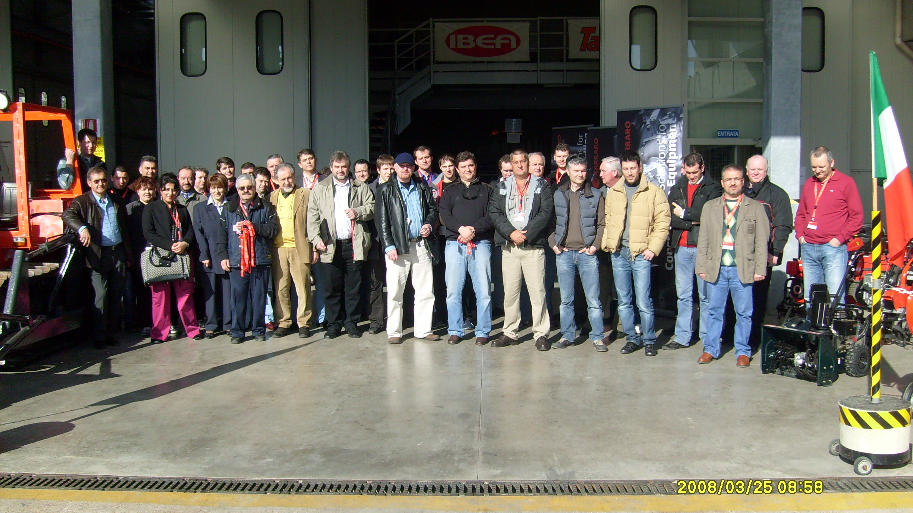 The first Carraro Spare Parts distributor training, 26-28 March 2008 (Meldola, FC, Italy)