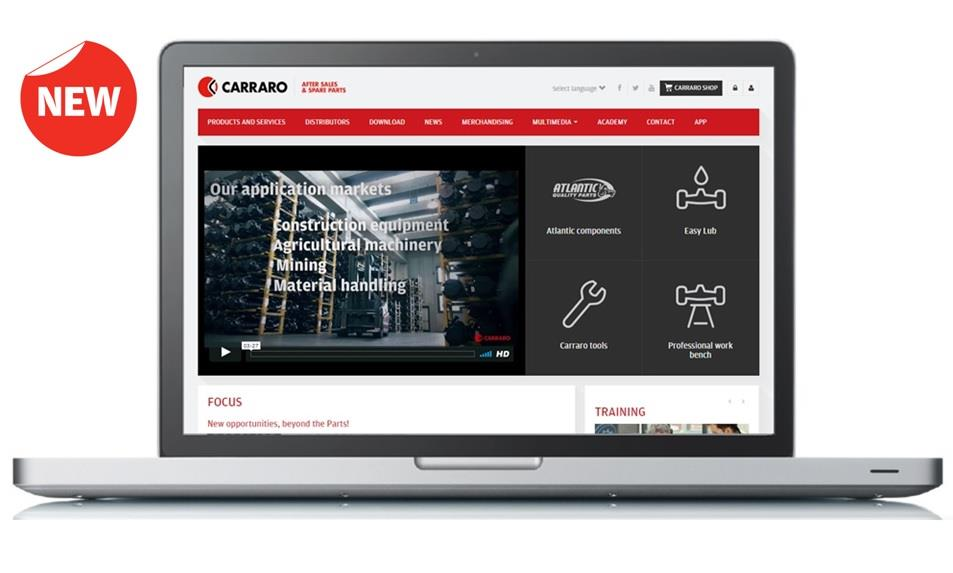 Online the new version of the website dedicated to Carraro Spare Parts
