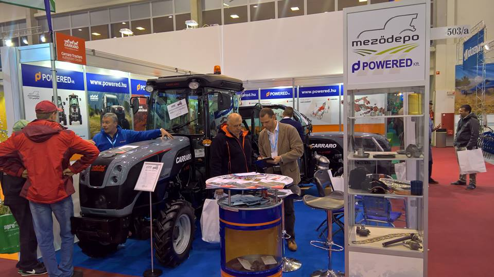 Carraro tractors and spare parts at AgroMash Expo in Hungary (January 24-28)